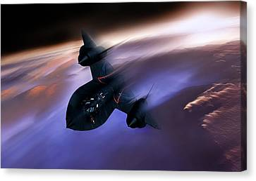 Johnson Canvas Print - Beyond Mach 3 by Peter Chilelli