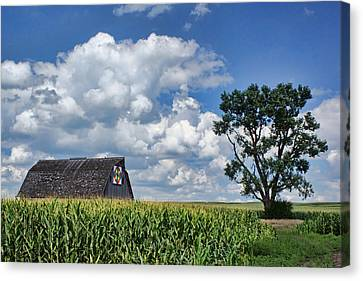 Block Quilts Canvas Print - Beyond The Corn by Nikolyn McDonald