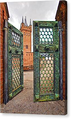 Beyond The Courtyard Gate Canvas Print by Marcia Colelli