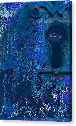 Beyond The Door - Abstract Canvas Print by J Larry Walker