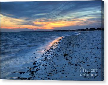 Beyond The Gilded Sunset Canvas Print by Michelle Wiarda