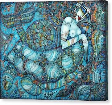 Beyond The Oceans... Canvas Print