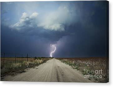 Beyond The Open Road Canvas Print