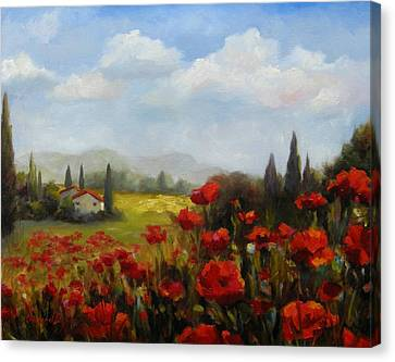 Beyond The Poppies Canvas Print