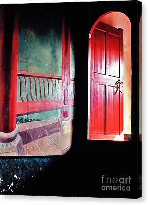 Beyond The Red Door Canvas Print