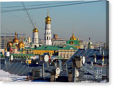 Moscow Skyline Canvas Print - Beyond The Rooftops 2 by Anna Yurasovsky