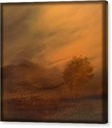 Beyond The Rowan Tree Canvas Print by Liz  Alderdice