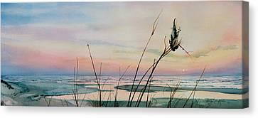 Sandy Beach Canvas Print - Beyond The Sand by Hanne Lore Koehler