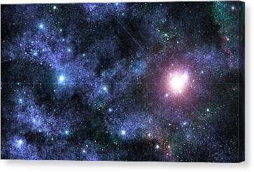Beyond The Stars Canvas Print by Jayden Bell