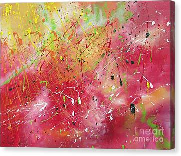 Canvas Print featuring the painting Beyond The Universe by Nereida Rodriguez