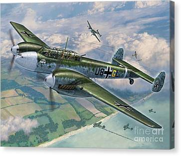 Bf-110 Zerstorer Canvas Print by Stu Shepherd
