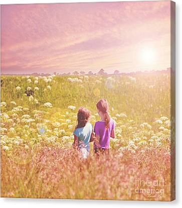 Friends Forever Canvas Print - BFF by Linda Lees