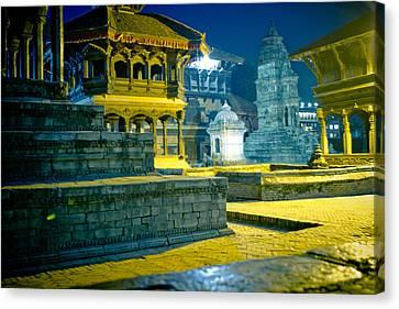 Bhaktapur City Of Devotees Artmif.lv Canvas Print by Raimond Klavins