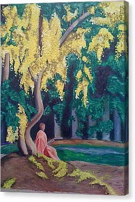 Bhakti Yoga Canvas Print by Mila Kronik