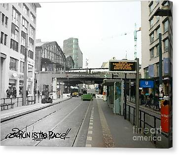 Bhf. Friedrichstrasse  - Berlin Is The Place...series Canvas Print by Color and Vision