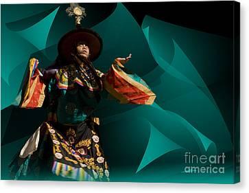 Bhutanese Festival Canvas Print by Angelika Drake