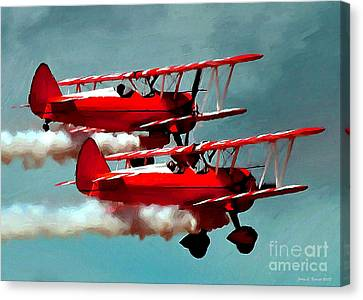 Bi-planes Canvas Print by Jerry L Barrett