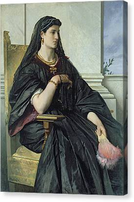 Bianca Capello, 186468 Oil On Canvas Canvas Print by Anselm Feuerbach