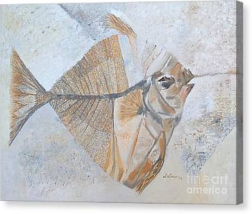 Canvas Print featuring the painting Bibanul  by Delona Seserman