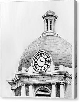 Bibb Courthouse 2 Canvas Print by Danyelle McDow