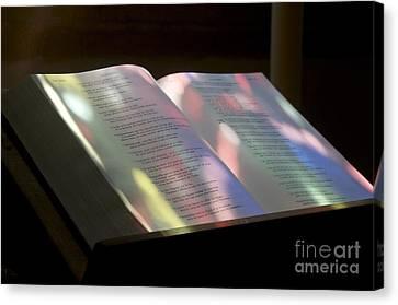 Bible Canvas Print by Bernard Jaubert