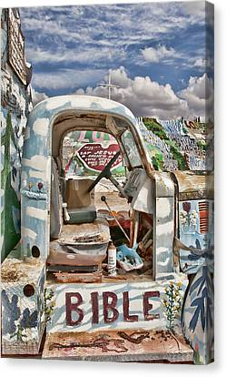 Bible Truck Canvas Print by Hugh Smith