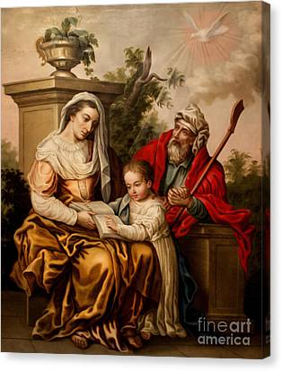 Biblical Instruction Canvas Print by Al Bourassa