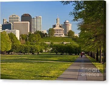 Bicentennial Park Nashville Canvas Print by Brian Jannsen