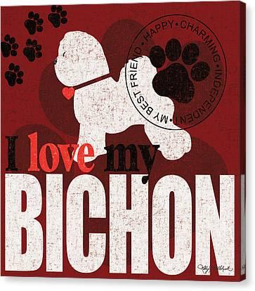 Bichon Canvas Print by Kathy Middlebrook