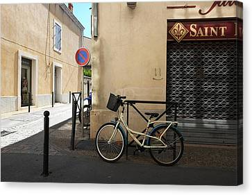 Bicycle Aigues Mortes France Canvas Print by John Jacquemain