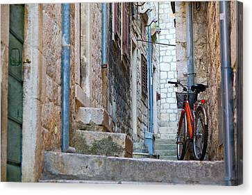 Bicycle Canvas Print by Alexey Stiop