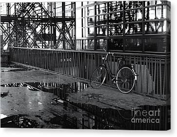 Canvas Print featuring the photograph Bicycle Alone by Maja Sokolowska