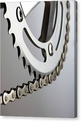 Bicycle Chain And Crank Canvas Print