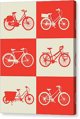 Inspirational Canvas Print - Bicycle Collection Poster 1 by Naxart Studio