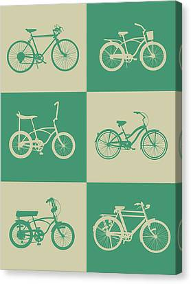 Inspirational Canvas Print - Bicycle Collection Poster 4 by Naxart Studio