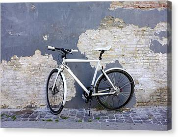 Canvas Print featuring the photograph Bicycle Copenhagen Denmark by John Jacquemain