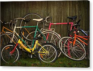 Two Wheeler Canvas Print - Bicycle Jam by Odd Jeppesen