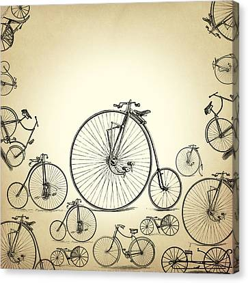 Caricature Canvas Print - Bicycle by Mark Ashkenazi