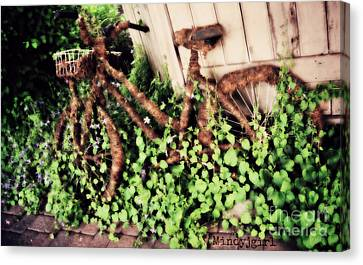 Canvas Print featuring the photograph Bicycle  by Mindy Bench