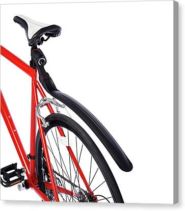 Bicycle Mud Guard Canvas Print by Science Photo Library