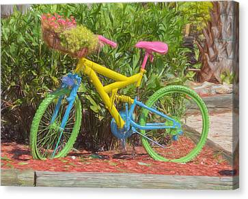 Bicycle Of Colors Canvas Print by Kim Hojnacki