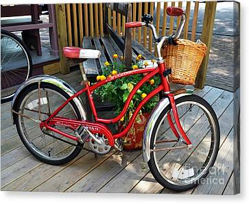 Bicycle On The Go Canvas Print