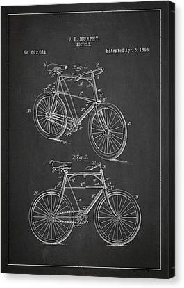 Bicycle Patent Canvas Print by Aged Pixel