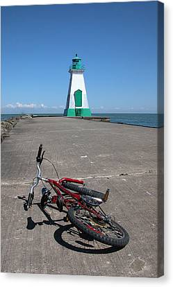 Bicycle Port Dalhousie Ontario Canvas Print by John Jacquemain