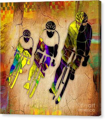 Bicycle Racings Canvas Print