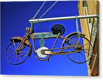 Bicycle Sign Outside Store, Virginia Canvas Print
