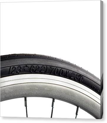 Bicycle Tyre Canvas Print by Science Photo Library