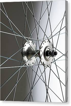 Bicycle Wheel Hub Canvas Print by Science Photo Library