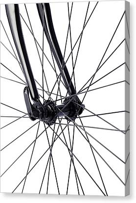Bicycle Wheel Spokes Canvas Print by Science Photo Library