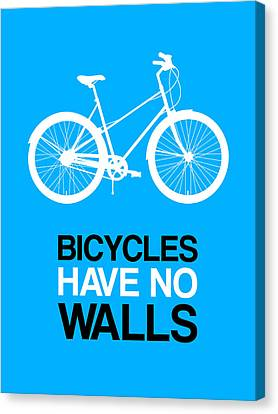 Bicycles Have No Walls Poster 2 Canvas Print by Naxart Studio